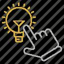creative, creativity, idea, innovation, lightbulb, optimization, seo icon