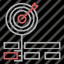 goal, keyword, optimization, seo, target icon