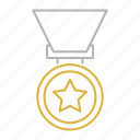 achievement, badge, cup, medal, trophy icon