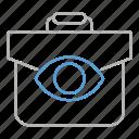 briefcase, demonstration, optimization, portfolio, seo, web icon