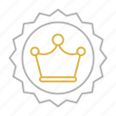 badge, creative, crown, design, premium, services icon