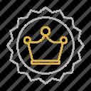premium, services, badge, creative, crown, design