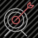 focus, goal, optimization, seo, targeting icon