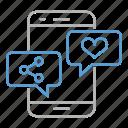 communication, media, mobile, optimization, seo, social, web icon