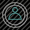 audience, bullseye, focus, target icon