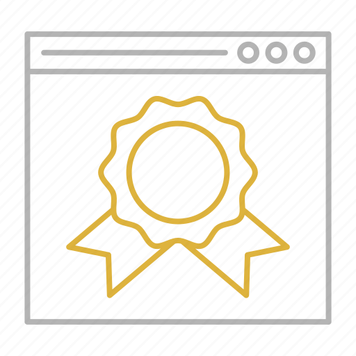 badge, ranking, seo, web, website icon