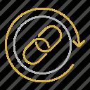backlinking, backlinks, hyperlink, link, network, optimization, seo icon