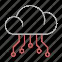 cloud, computing, database, network, optimization, seo, storage icon