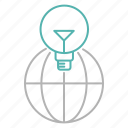 global, solution, bulb, earth, idea, international, seo