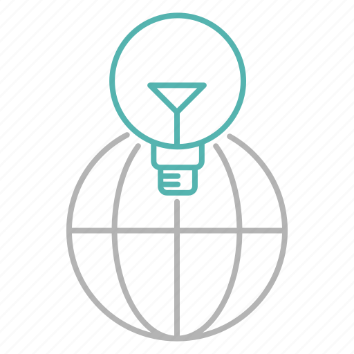 bulb, earth, global, idea, international, seo, solution icon