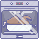 bake, chicken, cooking, culinarium, food, kitchen, oven icon