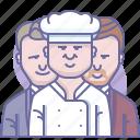 cooh, culinarium, food, gastronomy, restaurant, staff, waiter icon