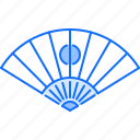 civilization, country, culture, fan, hand, japan icon