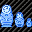 civilization, country, culture, doll, nesting, russia icon