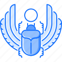 bug, civilization, country, culture, egypt, scarab, wing icon