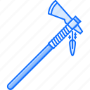 ax, civilization, country, culture, feather, indian, tomahawk icon