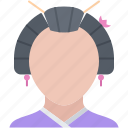 civilization, country, culture, geisha, japan, woman icon