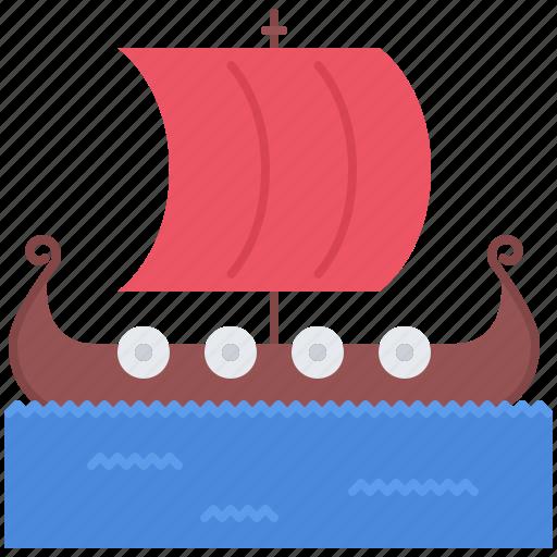 Civilization, country, culture, drakkar, ship, viking icon - Download on Iconfinder