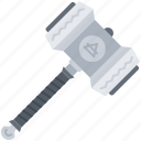 civilization, country, culture, hammer, viking, weapon icon