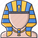 civilization, country, culture, egypt, pharaoh icon