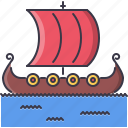 civilization, country, culture, drakkar, ship, viking icon