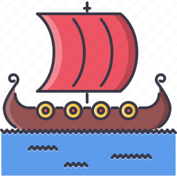civilization, country, culture, drakkar, ship, viking icon