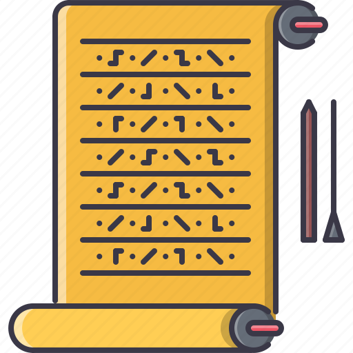 civilization, country, culture, egypt, hieroglyph, scroll, writing icon