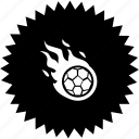 ball, fire, fly, football, game, soccer