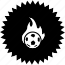 ball, fire, football, sport