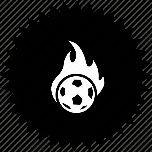ball, fire, football, sport icon