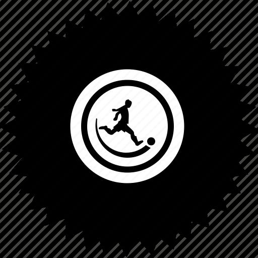ball, football, man, play, round icon