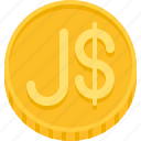 money, jamaica dollar, coin, dollar, currency