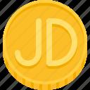 dinar, jordanian dinar, coin, money, currency
