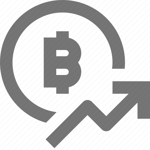 bitcoin, increase, rising icon