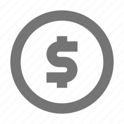 circle, currency, dollar, money icon