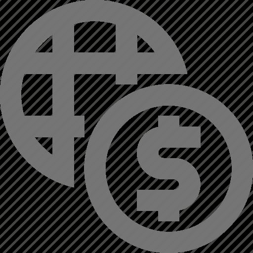 currency, dollar, global, international, money icon