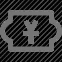 cash, currency, finance, money, price, stock, yen icon