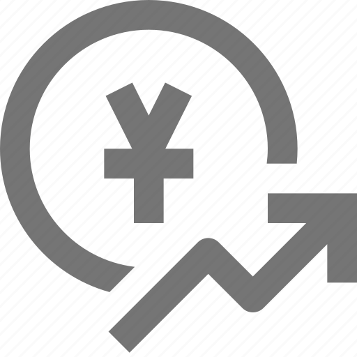 arrow, currency, increase, money, rising, yen icon