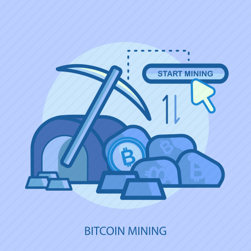 bitcoin mining, business, concept, currencies, cursor, finance, money icon