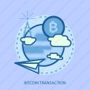 bitcoin transaction, business, cloud, concept, currencies, finance, money