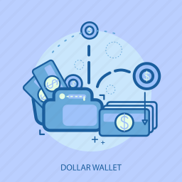 business, concept, currencies, dollar wallet, finance, money, saving icon