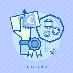 business, click, concept, currencies, euro startup, finance, money icon