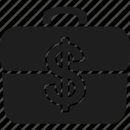 bag, briefcase, cash, currency, dollar, finance, money icon