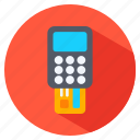 card, credit, device, reading icon