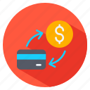 card, coin, credit, currency, dollar, exchange icon