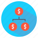cash, chart, finance, flow icon
