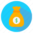 bag, dollar, finance, money