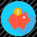 bank, coin, dollar, piggy icon