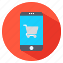 mobil phone, shopping, shopping cart, smart phone icon