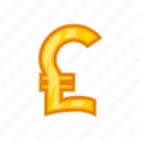 bank, cartoon, cash, currency, money, pound, sign icon
